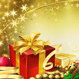 Reiki a los regalos y tarjetas de Navidad
