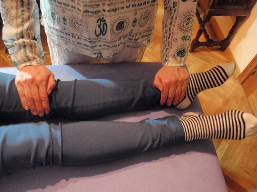 Posiciones tratamiento de Reiki a otra persona