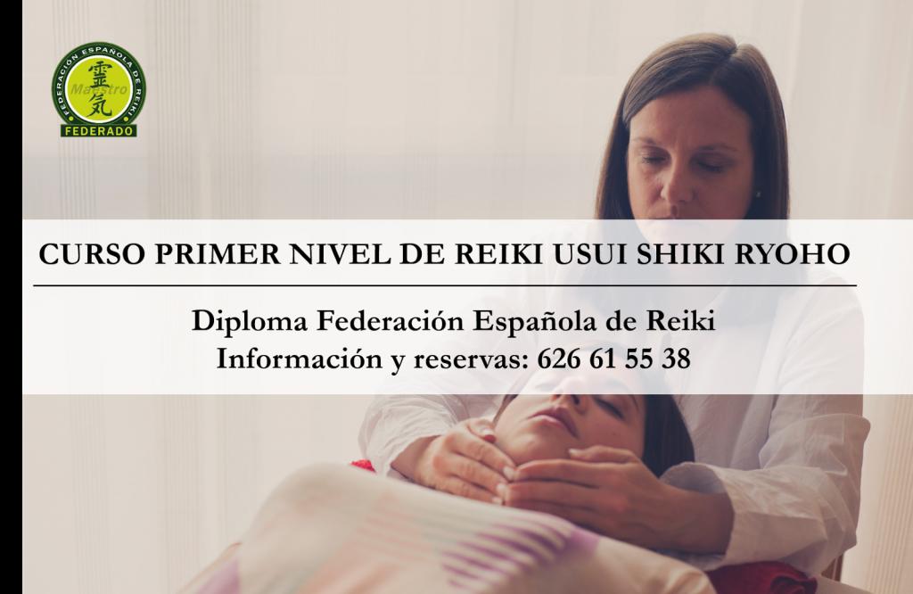 Curso Primer Nivel Reiki Madrid Diploma Federacion